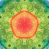 Mandala d'aquarelle de vecteur Décor pour votre conception, ornement de dentelle Modèle rond, style oriental Photos libres de droits