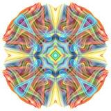 mandala 3D colorida Fotografia de Stock Royalty Free