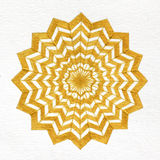 Mandala d'or d'étoile Image libre de droits