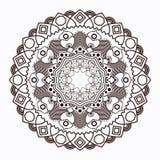 Mandala d'ensemble pour livre de coloriage illustration libre de droits