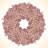 Mandala d'isolement par vintage dans le style indien de mehndi Photo stock