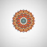 Mandala d'orange de vecteur Images stock
