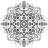 Mandala d'Ornamental de vecteur illustration stock