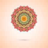 Mandala d'Ornamental de vecteur Modèle géométrique élégant en oriental Images libres de droits