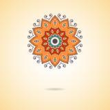 Mandala d'Ornamental de vecteur Modèle géométrique élégant en oriental Image libre de droits