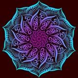 Mandala d'ornement de fleur de vecteur Illustration Libre de Droits
