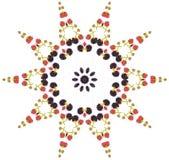 Mandala da amora-preta ilustração stock