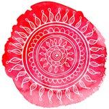 Mandala da aquarela Foto de Stock
