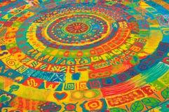 Mandala da areia da cor Fotos de Stock