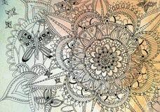 Mandala da borboleta Fotos de Stock Royalty Free
