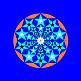 Mandala da estrela Fotografia de Stock Royalty Free