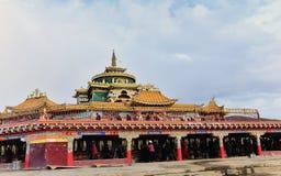 Mandala da faculdade do buddhism de Seda Larong Wuming Imagem de Stock Royalty Free