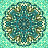 Mandala da flor. Elemento abstrato para o projeto Fotos de Stock Royalty Free