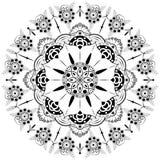 Mandala da flor Elementos decorativos do vintage Teste padrão oriental, ilustração Islã, árabe, indiano, marroquino, spain, turco Fotos de Stock Royalty Free