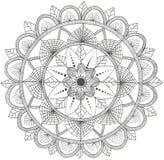 Mandala da flor Elementos decorativos do vintage, teste padrão oriental ilustração do vetor