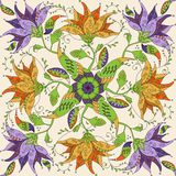 Mandala da garatuja Imagens de Stock Royalty Free