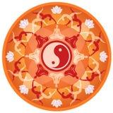 Mandala da ioga Imagens de Stock Royalty Free