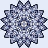 Mandala dans le bleu Conception est et ethnique, modèle oriental, ornement rond Pour l'usage en décor de tissu, copie, tatouage illustration libre de droits