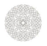 Mandala dans le style ésotérique Ensemble d'anneaux des tresses celtiques illustration libre de droits
