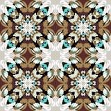 Mandala dark seamless vintage tribal seamless pattern Royalty Free Stock Photo
