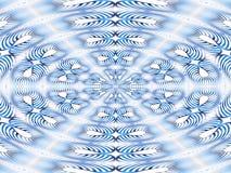 Mandala das listras azuis Imagem de Stock Royalty Free