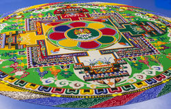Mandala de bouddhiste de sable Photographie stock