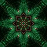 Mandala de cobre de la estrella de la relevación Fotos de archivo