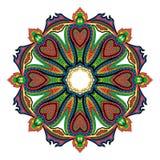 Mandala de coeurs Photographie stock libre de droits