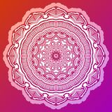 Mandala de coloration Antistress sur le fond rouge illustration stock