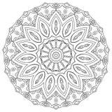 Mandala de coloration de page Géométrique circulaire illustration libre de droits