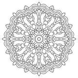 Mandala de coloration de page Ornement géométrique circulaire illustration libre de droits