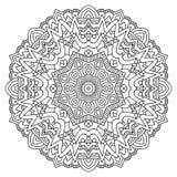Mandala de coloration de page Ornement géométrique circulaire illustration de vecteur