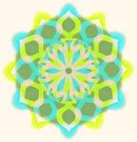 Mandala de couleur d'aquarelle Photographie stock libre de droits