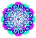 Mandala de couleur d'aquarelle Photos stock