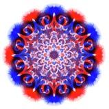 Mandala de couleur d'aquarelle Images stock