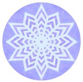Mandala de couleur d'aquarelle Images libres de droits
