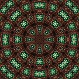 Mandala de cuivre martelé Images libres de droits