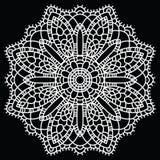 Mandala de dentelle de crochet. illustration stock