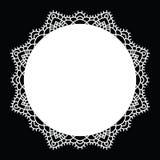 Mandala de dentelle de crochet Photographie stock