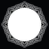 Mandala de dentelle de crochet Photo libre de droits