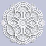 Mandala de dentelle, fleur décorative Illustration Stock