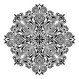 Mandala de fleur Élément abstrait pour la conception Image libre de droits