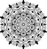Mandala de fleur Éléments décoratifs de cru Modèle oriental, illustration de vecteur illustration de vecteur