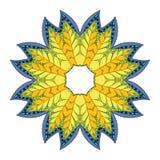 Mandala de fleur Images libres de droits
