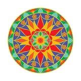 Mandala de fleur de couleur de vecteur Élément décoratif ethnique Image libre de droits
