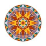 Mandala de fleur de couleur de vecteur Élément décoratif ethnique Photographie stock libre de droits