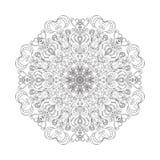 Mandala de fleur Ornement décoratif de cru Photographie stock libre de droits