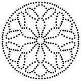 Mandala de fleur pointillé par noir Élément décoratif Griffonnage rond ornemental d'isolement sur le fond blanc illustration de vecteur