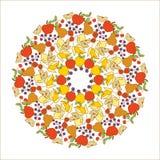 Mandala de fruit Image libre de droits