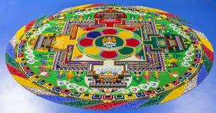 Mandala de la arena Fotografía de archivo libre de regalías